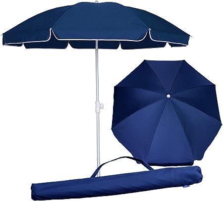 Garden Beach Patio Tilt Umbrella Parasol Sun Shade UV Tilting Tommy Bahama 7FT .