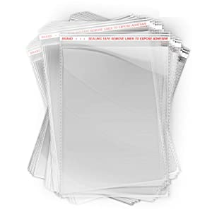 Lunox 200 PCS Crystal Clear Resealable Polypropylene Poly Plastic Bags for Packaging | 1.4 mils Thick Self Sealing OPP Cello Bags for Bakery Cookies Decorative Wrappers (4 X 7)