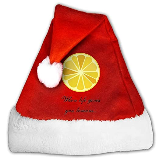 6fe6c0e5b7c7 When Life Gives You Lemons Make Lemonade Christmas Hat Xmas Party Hat -  Small