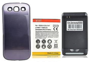 SaySure - NFC 4500 mAh Extended comercial batería + Blue Back Case ...