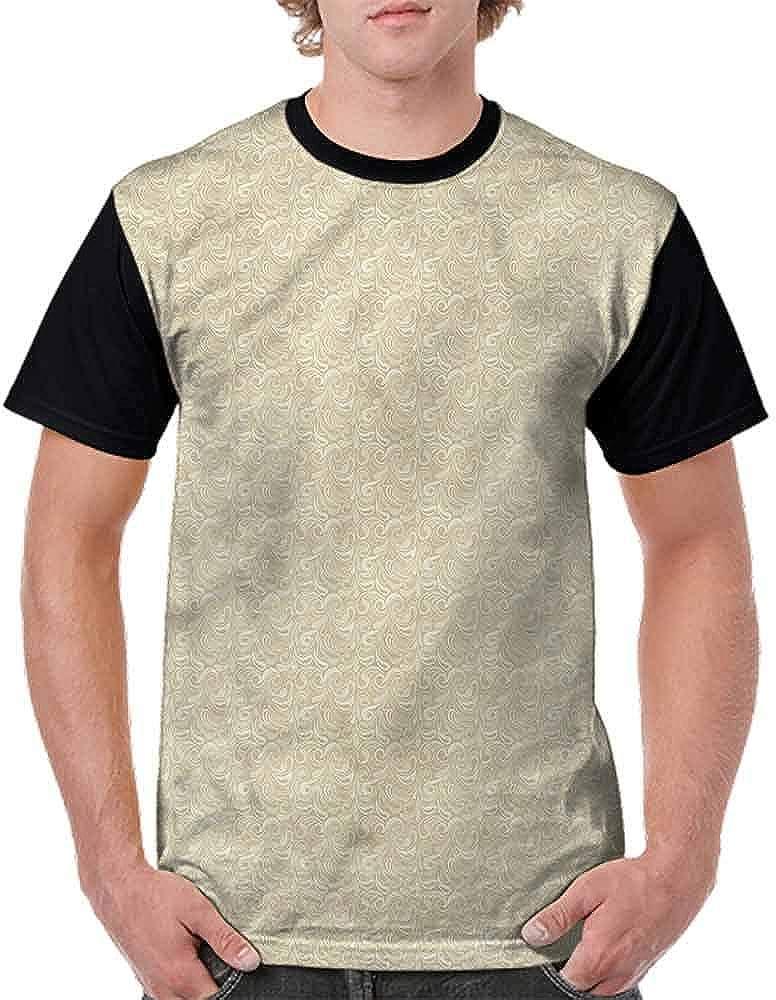 Vintage T-Shirt,Ornamental Paisley Fashion Personality Customization