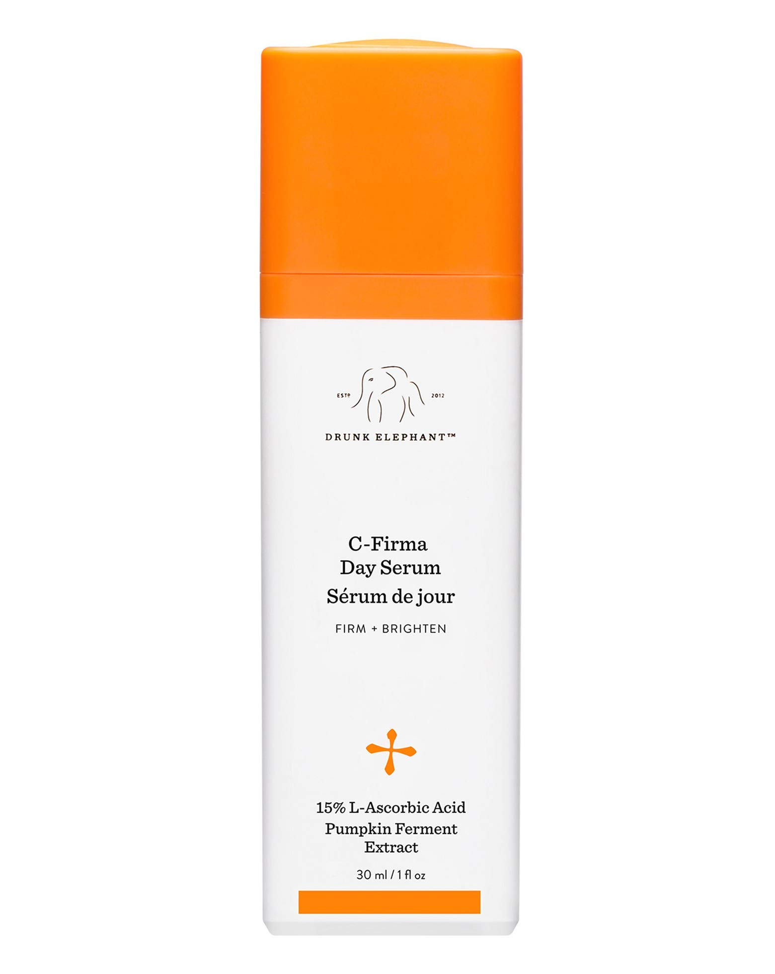 Drunk Elephant C-Firma Day Serum. Brightening and Tightening Gluten-Free Face Serum with 15 Percent Ascorbic Acid (1 ounce) by Drunk Elephant