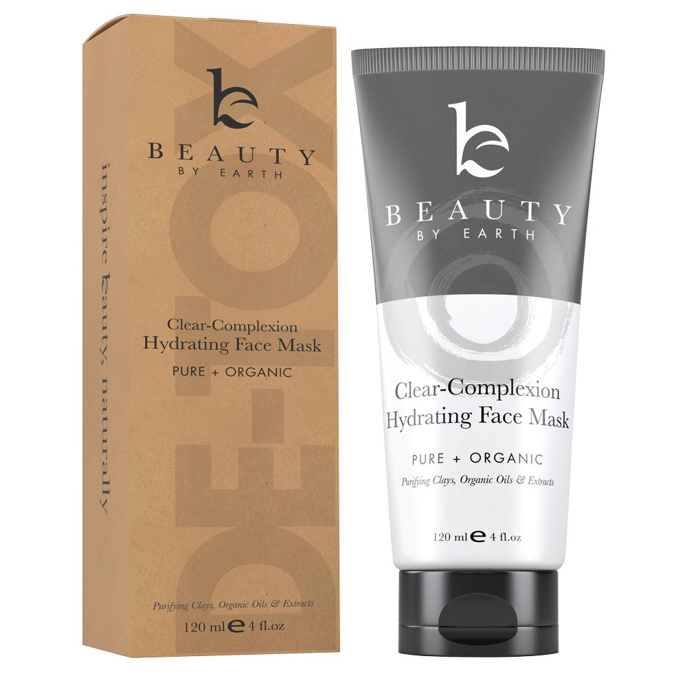 Hydrating Face Mask - Clay Mask for Face, Facial Mask Pore Cleaner & Pore Minimizer, Blackhead Mask Skin Care Products, Bentonite Clay Face Masks For Acne Treatment & Pore Cleanser Face Care, Mud Mask by Beauty by Earth