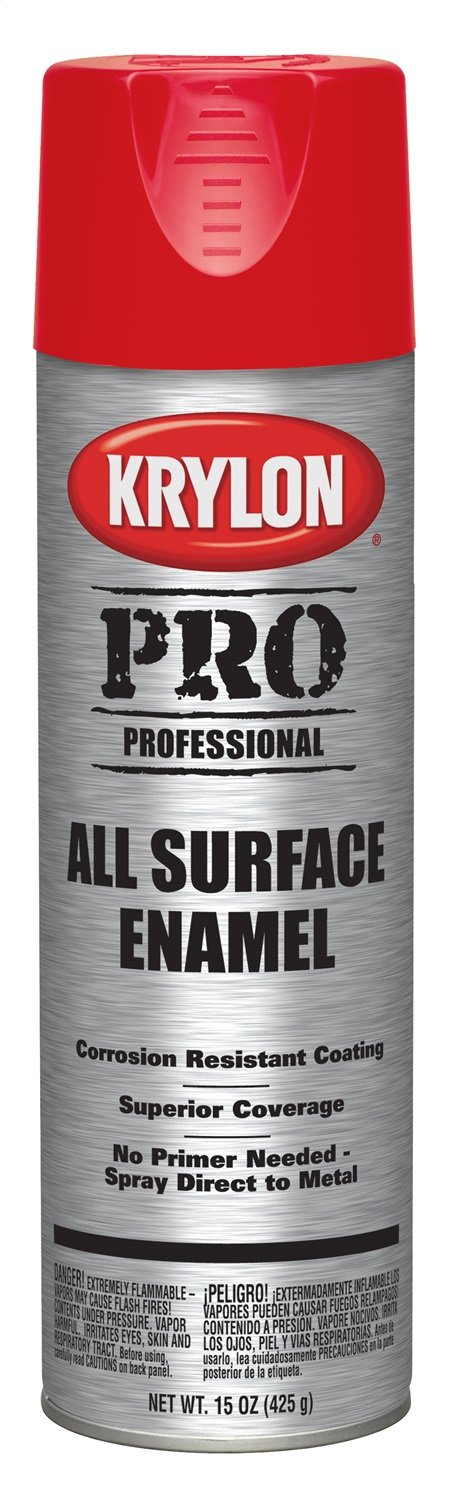 Krylon K05923000 Professional All Surface Enamels, Safety Red, 15 Ounce
