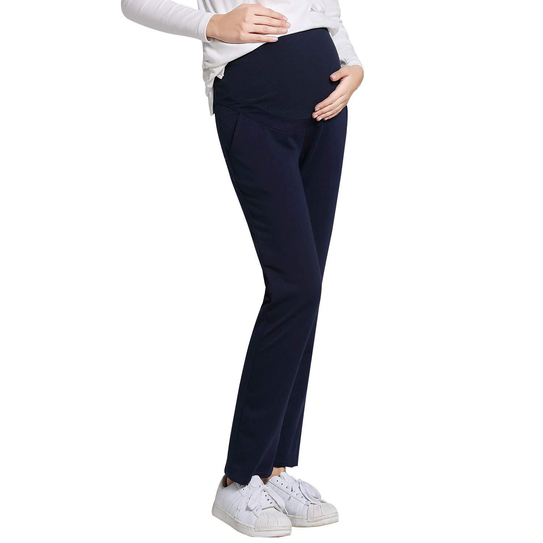 JOYNCLEON Pantalones de Trabajo de Maternidad para Mujeres Embarazadas Pierna Recta Embarazo Pantalones para Mujeres Embarazadas
