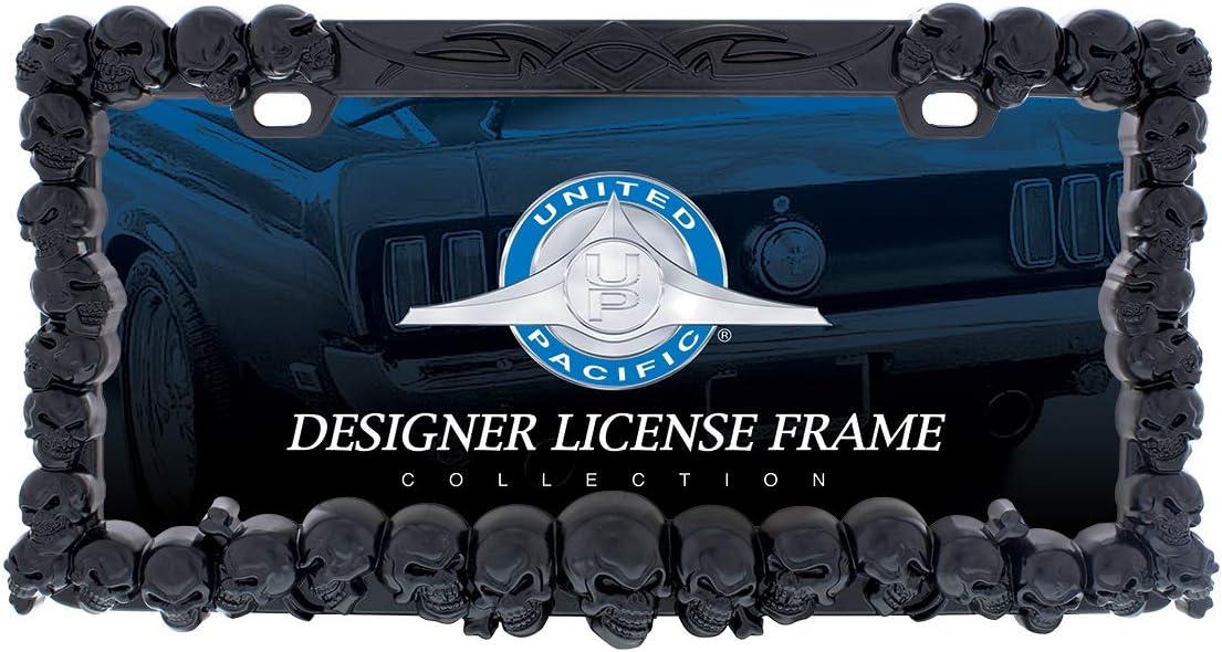 United Pacific Industries 50116 Black Skull License Plate Frame