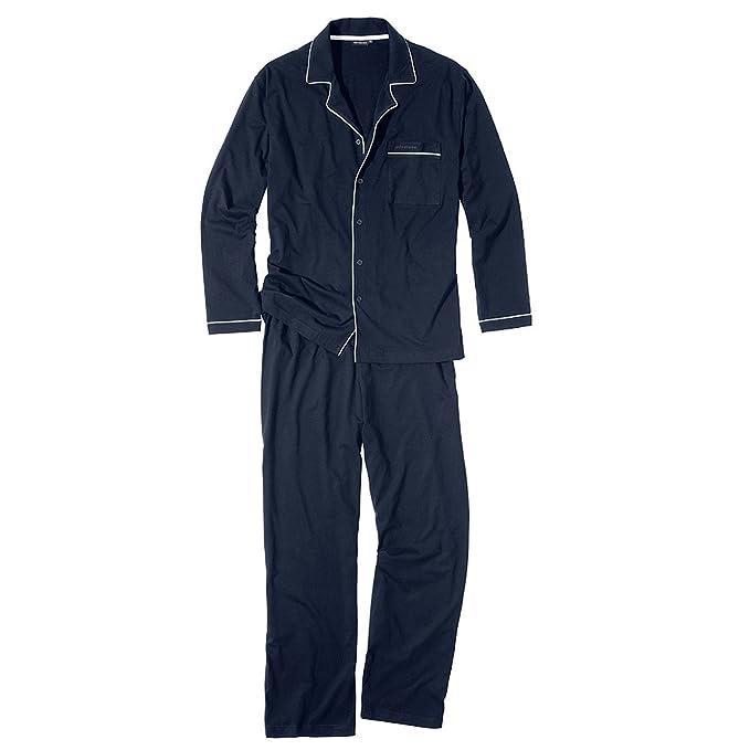 Götzburg Pijama Largo Azul Oscuro-Blanco Oversize, 56-74:58