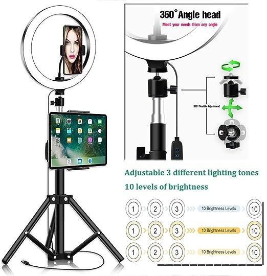 Dysel Selfie Anillo de Luz LED Ring Light Regulable, con Trípode ...