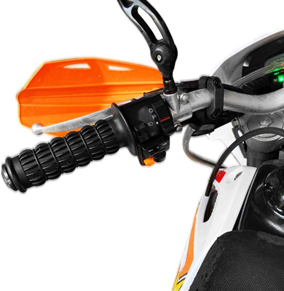 KKmoon Motorrad Griffe Rutschfester Lenkergriffe Motorrad Komfort Handgriffe 22 24mm linken Lenker 25 28mm rechten Lenker Triebwerk Griff f/ür H o n d a CB400 2 St/ücke Schwarz