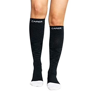 c5054d02cf SOCKSPARK Compression Socks Reduce Fatigue Pain Swelling Injury Recovery  Knee High Sock for Running Fitness Nursing