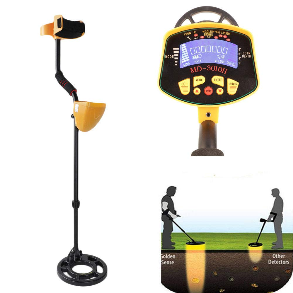 Amazon.com : Adulmly Metal Detector for Gold Digger Hunter Deep Sensitive Finds LCD Display : Garden & Outdoor