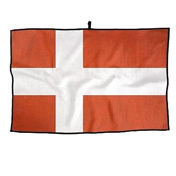 Game Life Toalla de Golf Personalizada con la Bandera danesa, Toalla de Microfibra para Deportes: Amazon.es: Hogar