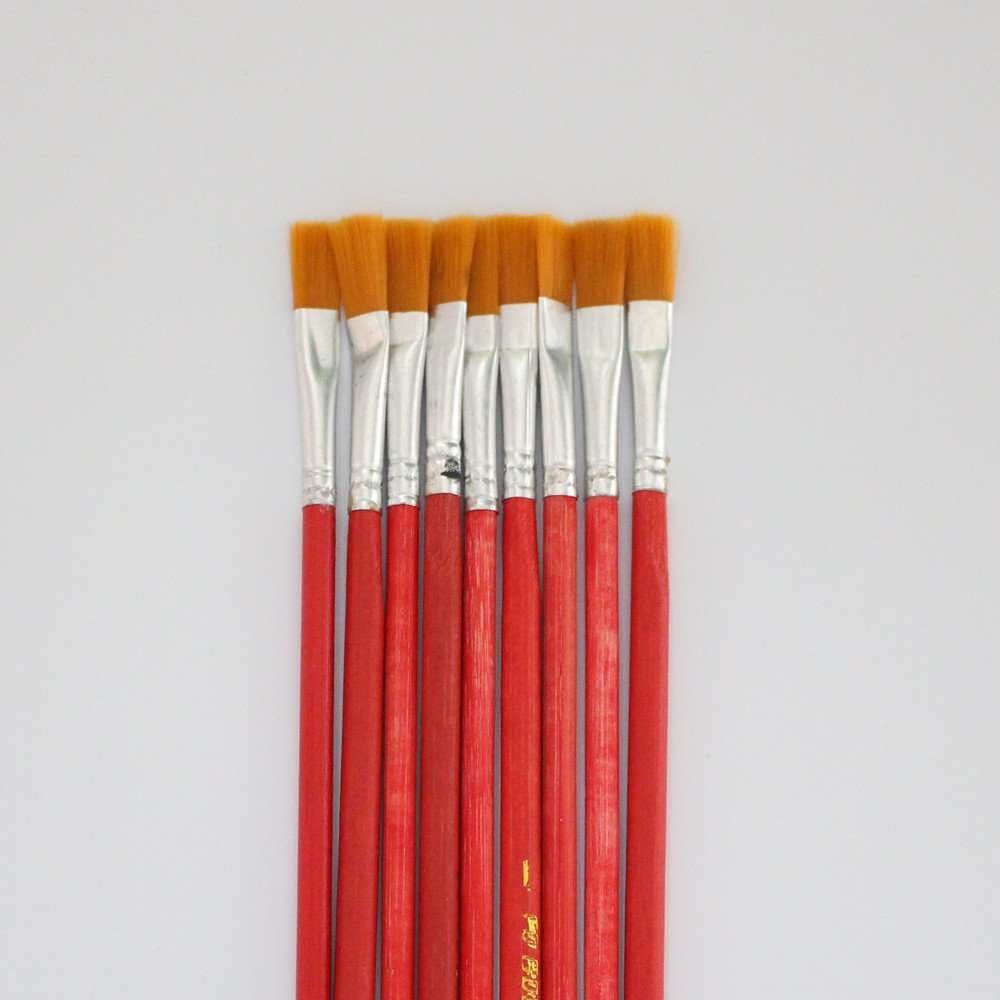 10 pcs NO.1 red Wool Brush,sweep gold leaves,Good quality wool brush,soft, a good tool for gilding leaves, YongBo
