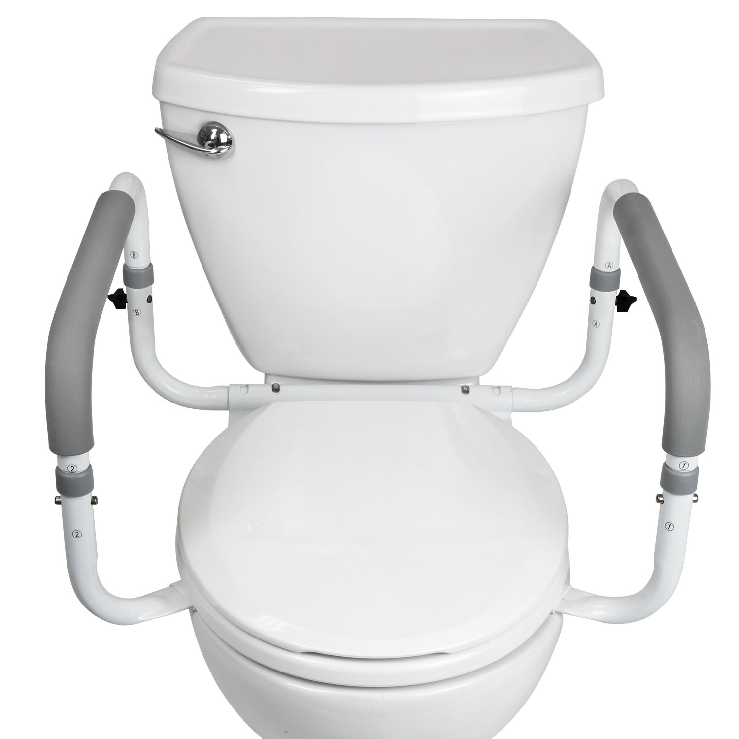 Amazon.com: Toilet Safety Frame by Vive - Adjustable, Compact ...