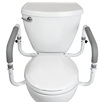 Toilet Safety Frame By Vive   Adjustable, Compact Support Hand Rails For Bathroom  Toilet Seat