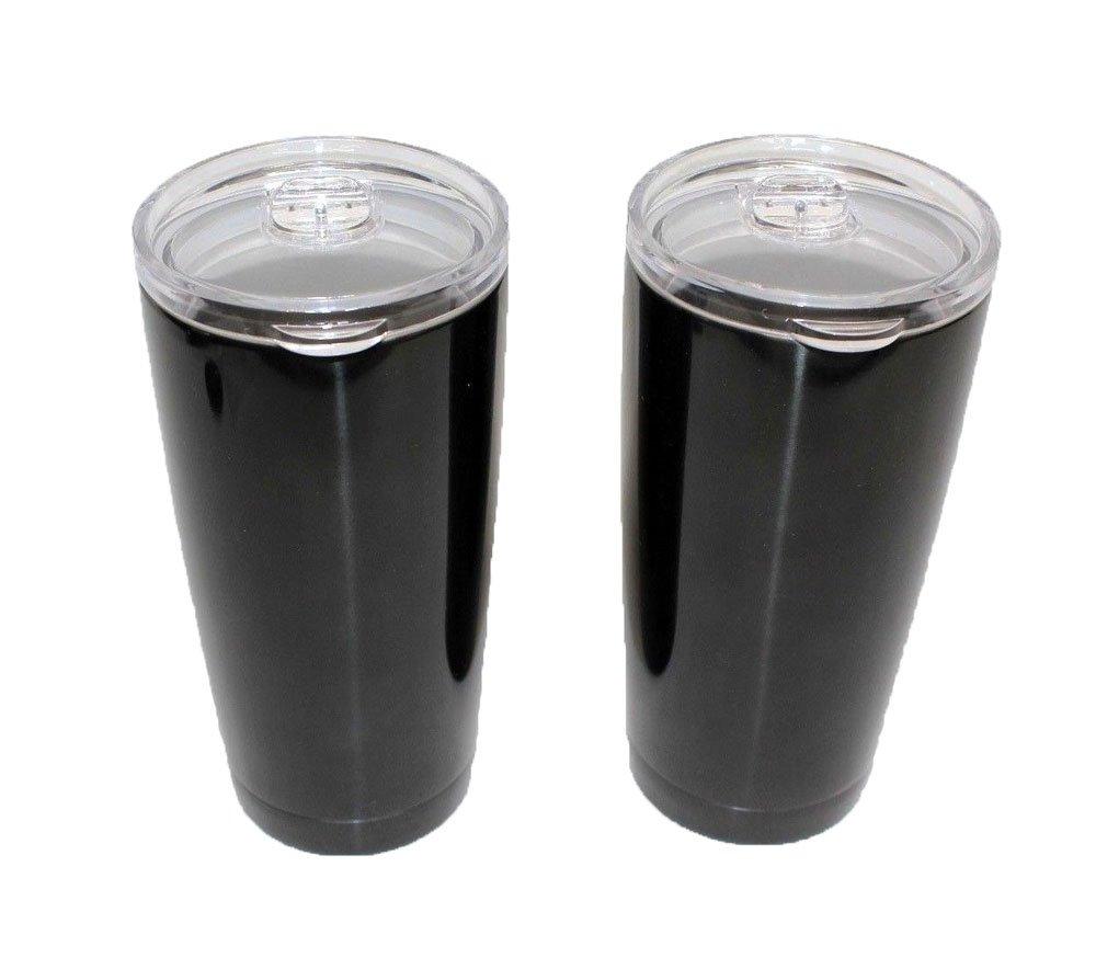 Member's Mark Stainless Steel Vacuum Insulated Tumblers 2 Pack 20 Oz 30 Oz (Black, 20 oz)