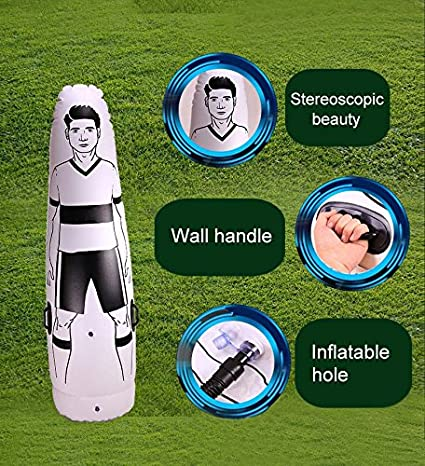 lzndeal 1.75 m Niños Adultos Inflables Fútbol Entrenamiento Goal ...