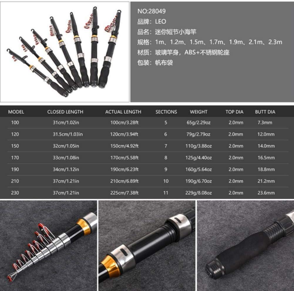 2.3 m 2.1 m Bebliss Telescopic Fishing Rods Fibreglass Spinning Rods Short Sea Fishing Accessories 1.0 m 1.9 m 1.7 m 1.2 m 1.5 m