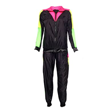 Anladia Womens Shell Suit Shellsuit Tracksuit Scouser Fancy Dress