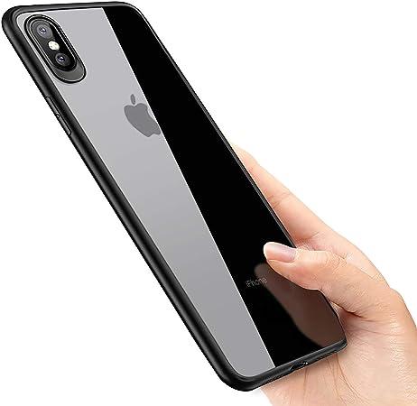 phixilin Cover iPhone XS Max, Silicone iPhone XS Max Case Ultra Sottile Trasparente Cover Bumper TPU AntiGraffio Antiurto Protettiva Custodia Gel per ...