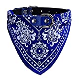 Howstar Pet Neckerchief, Adjustable Puppy Collar Dog Bandana Scarf Doggy Necklace (M, Blue)