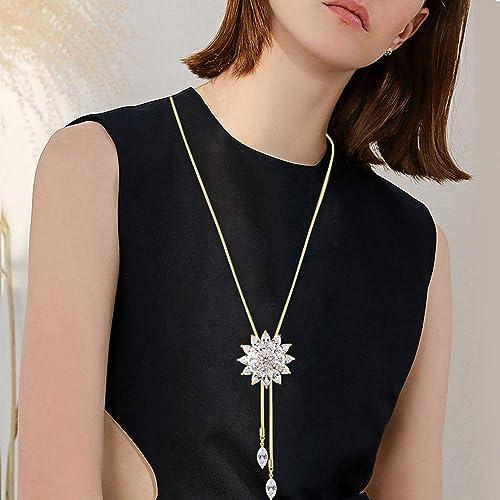 Los608-925 Sterling Silver Necklace Silver Women Aaa Grade Cz Clear A874-los608