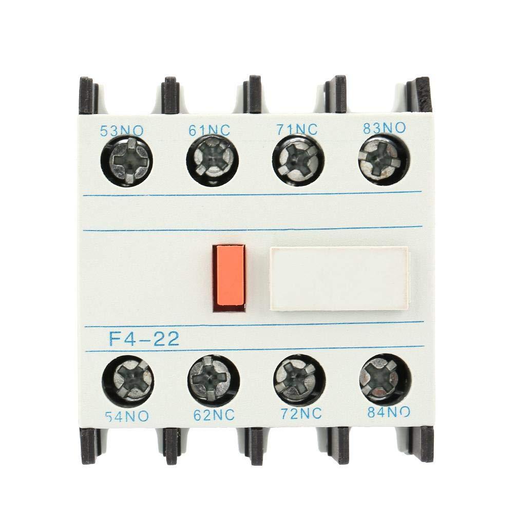 Contacto auxiliar de contactor de CA, LADN22 Contactor de corriente alterna Schakelaar F4-22 2 NO 2 NC Ajuste de bloque de contacto auxiliar