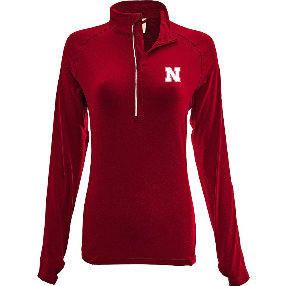 Flame Red Medium NCAA Energy Insignia Half Zip MidLayer