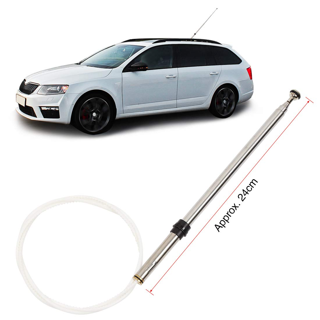 X AUTOHAUX Car Power Antenna Mast 86337-60151 for 1998-2007 Toyota Land Cruiser