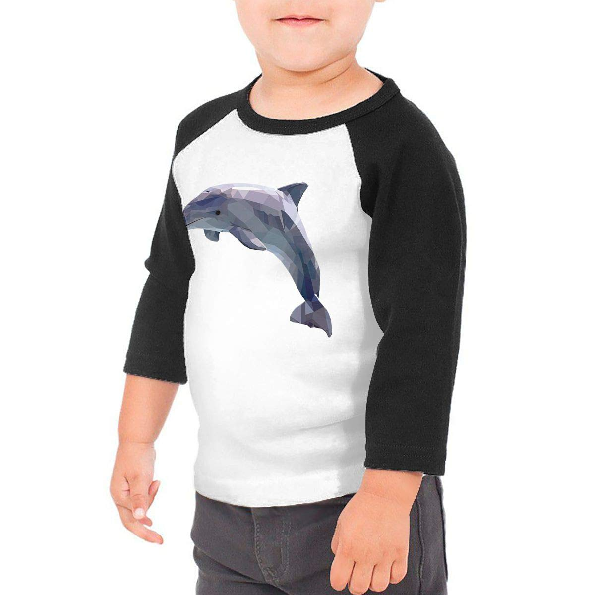 Dolphin Unisex 100/% Cotton Childrens 3//4 Sleeves T-Shirt Top Tees 2T~5//6T