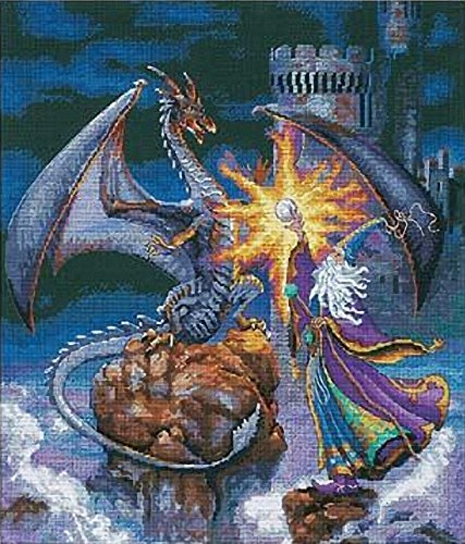 fts Counted Cross Stitch, Magnificent Wizard (Aida Kit)