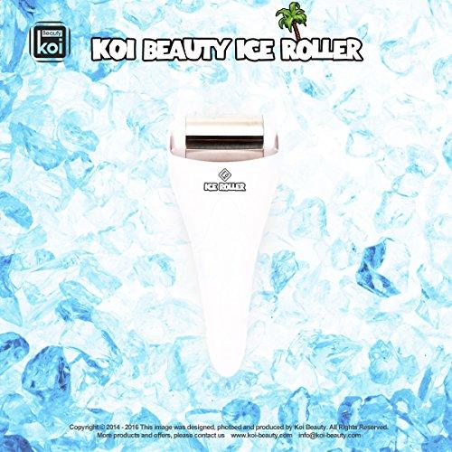 Koi Beauty Edelstahl skincool Ice Roller für Gesicht und Körper Massage zu Hause verwenden Farbe Weiß