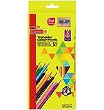 Camlin Triangular Colour Pencils - 12 Shades (Multicolor)