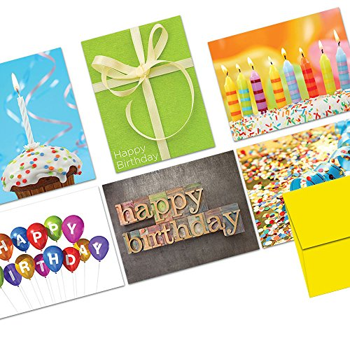 Note Card Cafe Happy Birthday Card Assortment with Envelopes | 36 Pack | Blank Inside, Glossy Finish | 6 It's Your Birthday Designs | Bulk Box Set for Greeting Cards, Occasions, Birthdays (Birthday Cards Unicef)