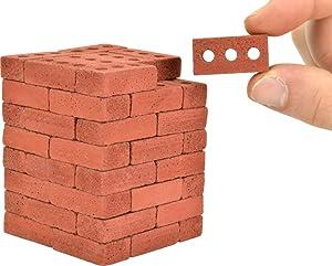 Acacia Grove Mini Red Bricks, 1:6 Scale (64 Pack)