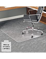Office-Chair-Mat, YOUKADA Chair Mat for Carpet, BPA and Phthalate Free, 75 x 120 cm/30 x 48 inch