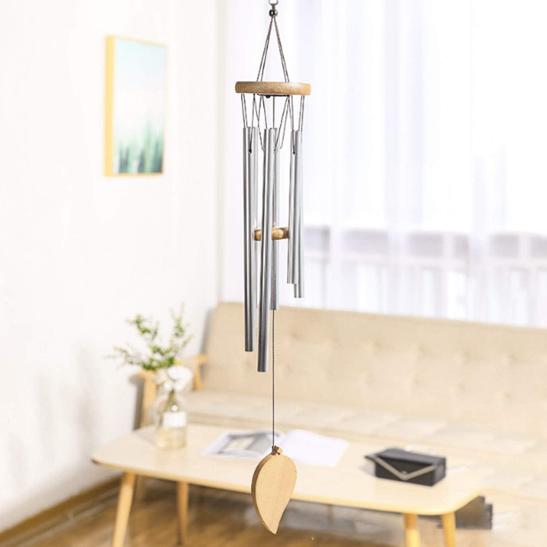 Zaleonline Carillons De Vent en Bois Tube en Aluminium en Bois Massif Carillons De Vent Carillons /éoliens pour Ornements Cadeau Dartisanat