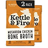 Mushroom Chicken Bone Broth by Kettle and Fire, Pack of 2, Keto Diet, Paleo Friendly, Whole 30 Approved, Gluten Free…