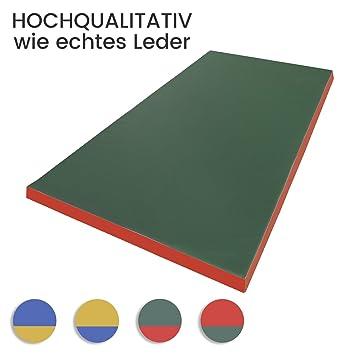 Estera de gimnasia 200 x 100 x 8 cm colchoneta verde/rojo ...