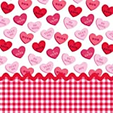 Sweet Greetings Valentine Paper Beverage Napkins 18 Per Pack