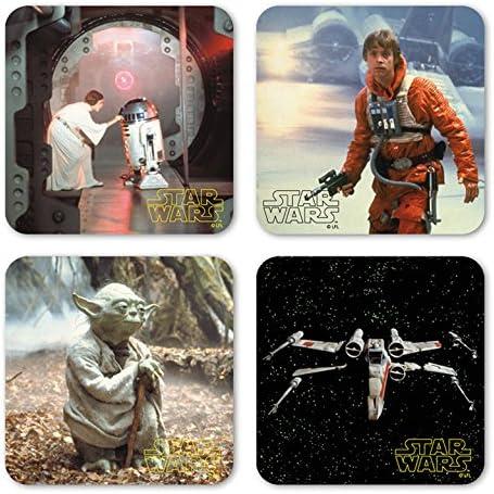 Logoshirt Lizenziertes Originaldesign Krieg der Sterne Coaster Set Star Wars 4er Untersetzer Set