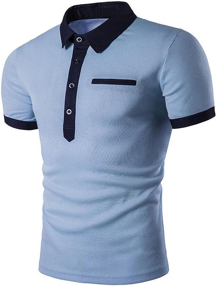 FAMILIZO Polos Manga Corta Hombre Polos Slim Fit Hombre Polos Hombre Manga Corta Camiseta Hombre Manga Corta Algodon Camisas Manga Corta Hombre Camisetas Blanca Deporte (S, Azul Claro): Amazon.es: Ropa y accesorios