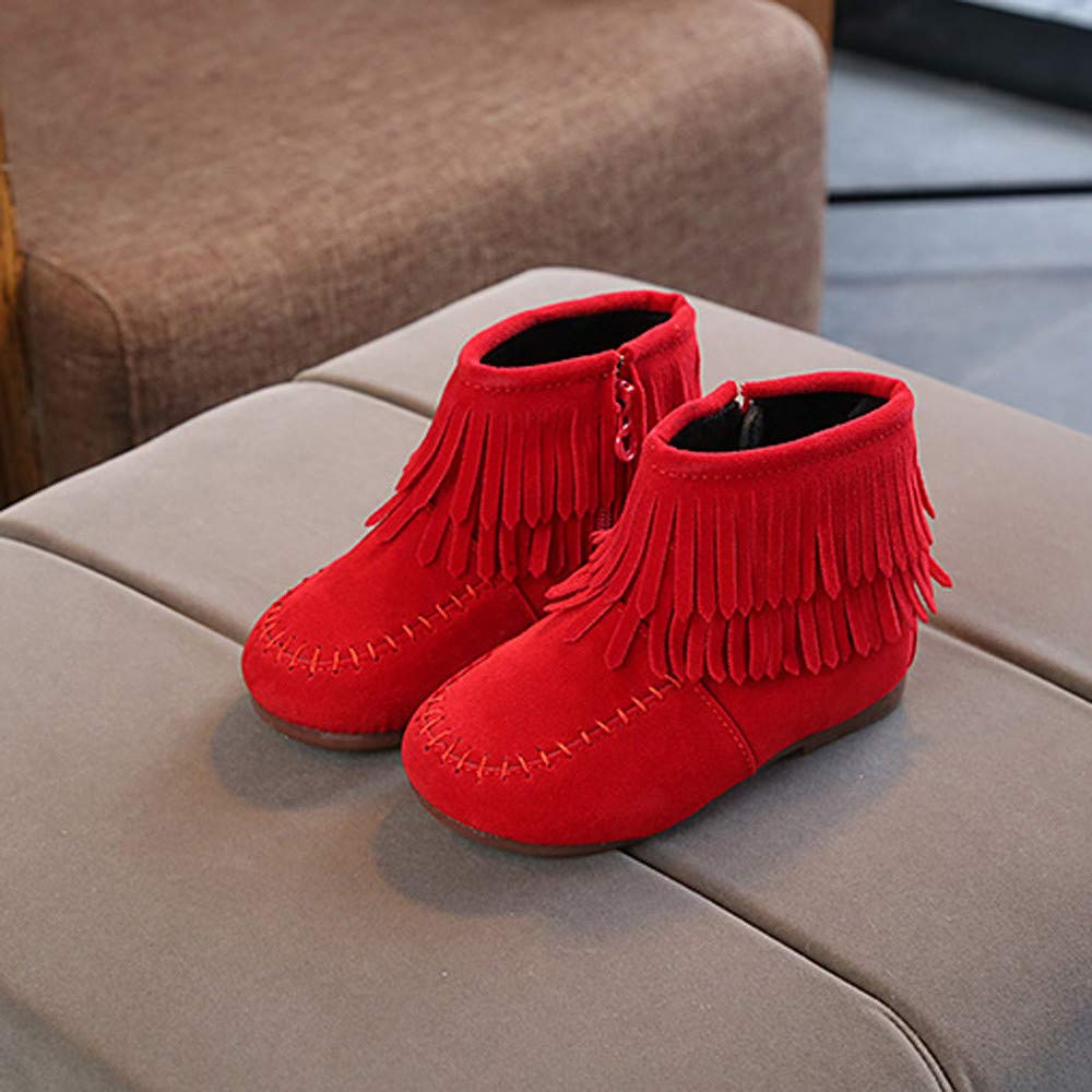 Amazon.com: Fashion Infant Girls Boys Tassel Martin Boots Warm Anti-slip Snow Boots Shoes Kids Baby Walking Shoes (Age: 4.5-5T, Black): Beauty