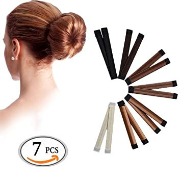 Amazon.com: Fanme Hair Bun Maker and Shapers, French Twist Donut ...