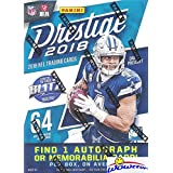2018 Panini Prestige NFL Football EXCLUSIVE Factory Sealed Retail Box with AUTOGRAPH or MEMORABILIA Card! Look for Rookies & Auto's of Baker Mayfield, Sam Darnold, Saquon Barkley & Many More! WOWZZER