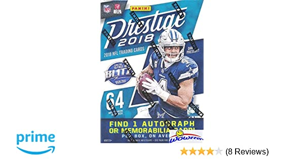 4 Packs of 40 Cards: 4 Autographs, 40 Rookies, 24 Inserts, 5 Parallels 2017 Panini Prestige Football Hobby Box