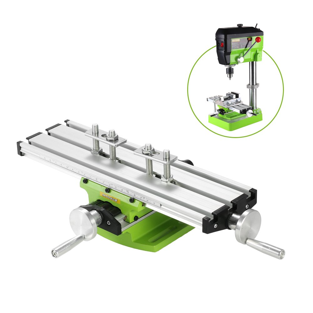KKmoon Compound Bench Drilling Slide Table Worktable Milling Working Cross Table Milling Vise Machine for Bench Drill Stand