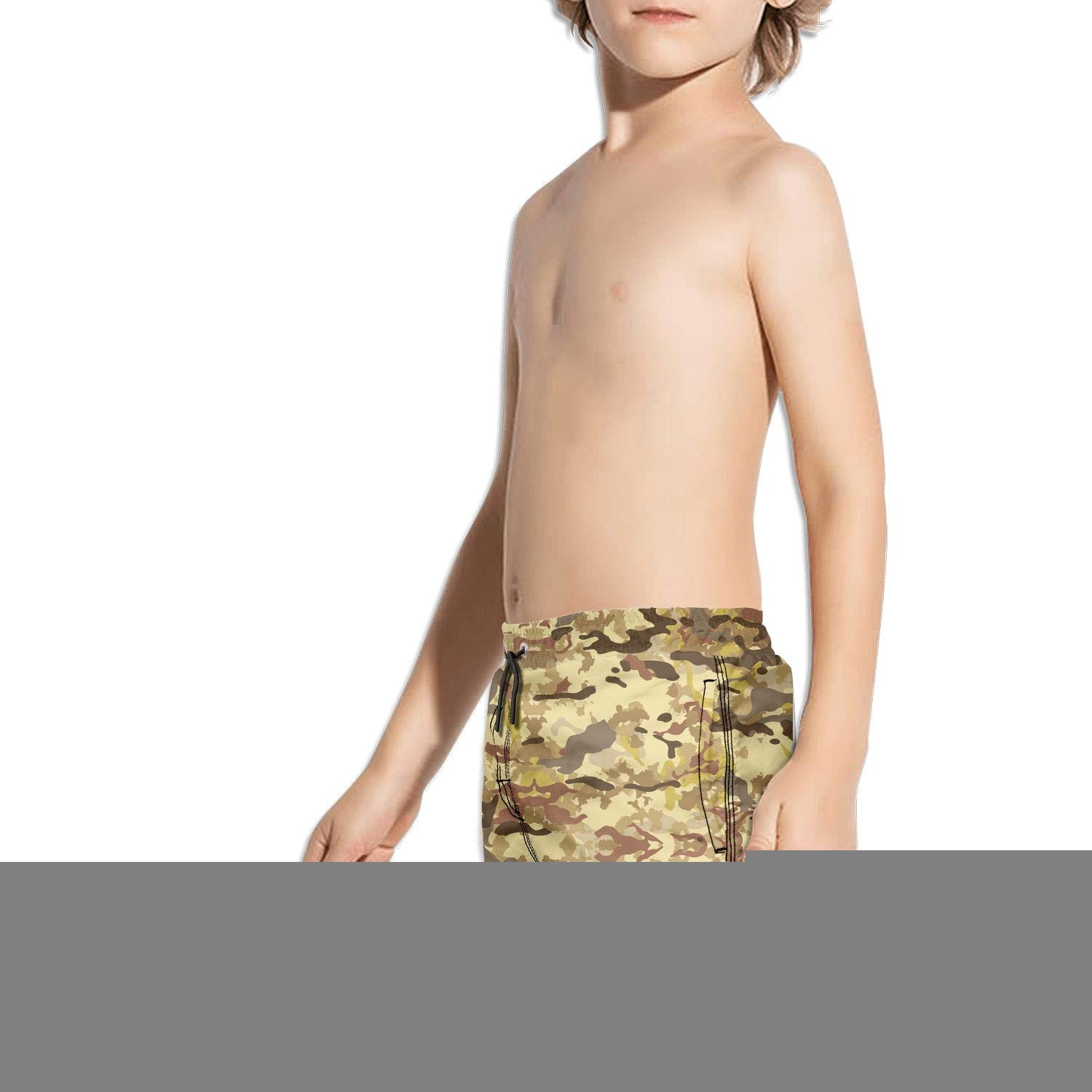 uejnnbc Colorful Multicam Camouflage Mesh Lining Sporty Solid Board Swim Shorts
