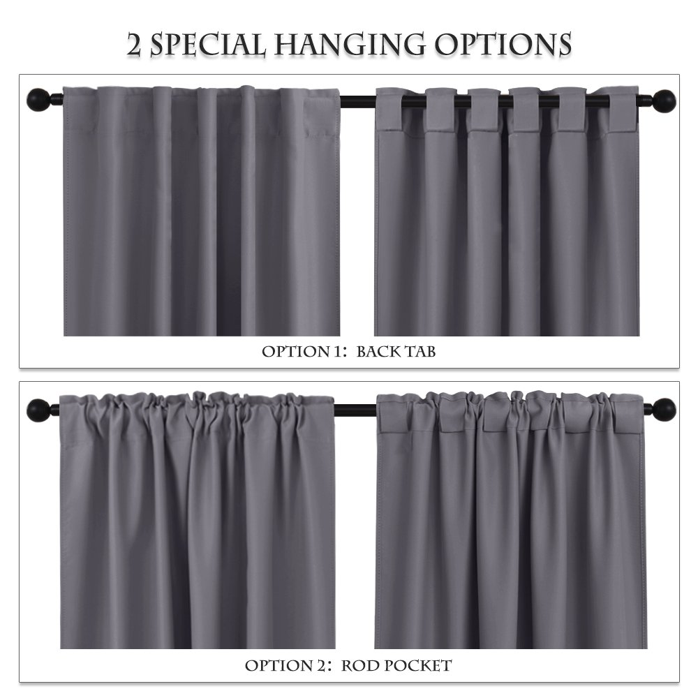 Gray Blackout Curtains Window Treatments