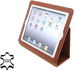 StilGut Esclusiva custodia Executive in vera pelle per il nuovo iPad 3 Apple (3a e 4a generazione) - cognac -